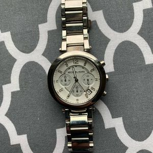 Michael Kors stainless steel watch with crystal